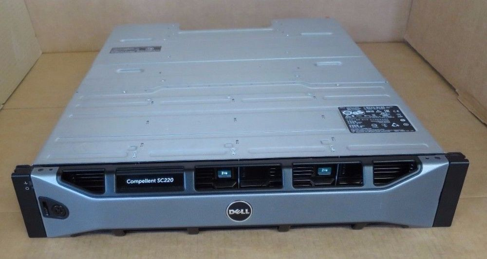 Dell Compellent SC200 24TB 12x 2TB 7.2K 2x SC2 EMM Module Expansion Enclosure